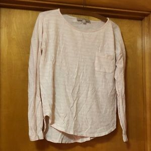 Loft Slub Knit Pocket Tee ~ M